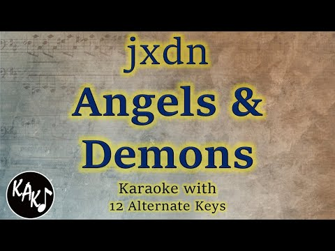 Jxdn - Angels & Demons Karaoke Instrumental Original Lower Higher Female Key Version