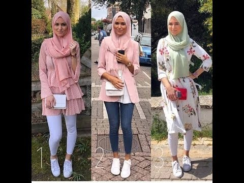 585ee3204 تنسيق ملابس محجبات للربيع 2019 || Early Spring Hijab Look book ...