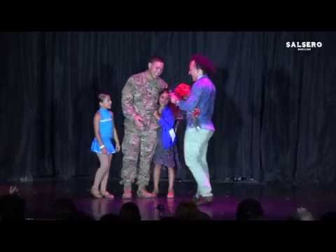 Military DAD Surprise His Daughters after performing. Gabriela Cruz, CTSC 2016