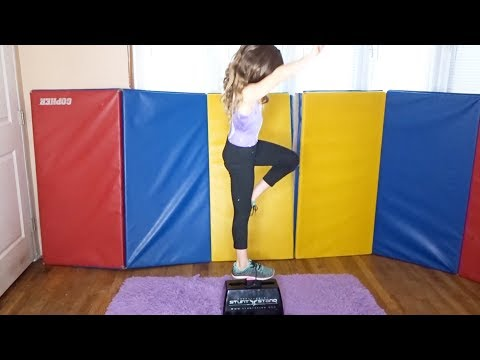 GYMNASTS TRY THE CHEERLEADER STUNT STAND FOR THE VERY 1ST TIME W REVIEW!