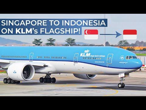TRIPREPORT   KLM Royal Dutch Airlines (ECONOMY)   Boeing 777-300ER   Singapore - Denpasar