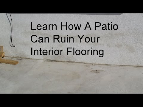 Water Damage Problems From Pouring Concrete Patio Higher Than Interior Floor