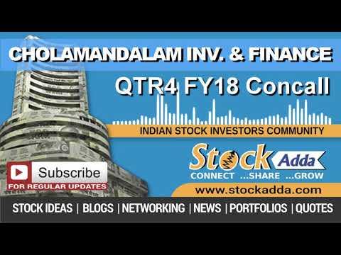 Cholamandalam Investment & Finance Company Ltd Investors Conference Call Q4FY18