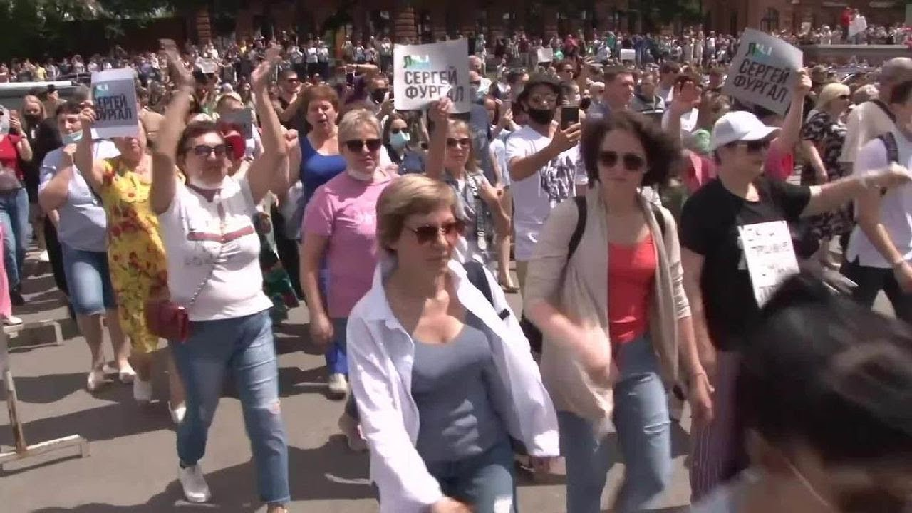 Протесты в Хабаровске в поддержку губернатора Сергея Фургала / LIVE 26.07.20