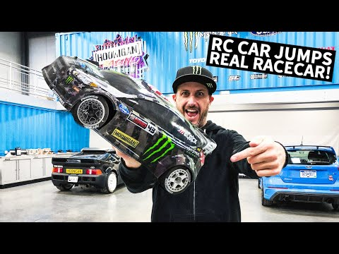 Ken Block\'s 1/8 Scale RC Shred Session... Around Real Racecars!