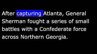 American History - Part 107 - Lincoln - Sherman burns Atlanta - Splits South