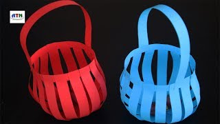 How to Make a Paper Basket - Paper Craft Idea