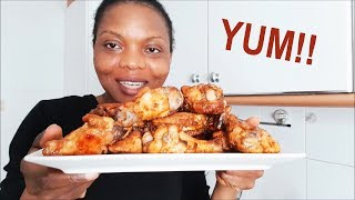 THAT Barbecue Chicken Wings Recipe   Weekend Snack   Flo Chinyere