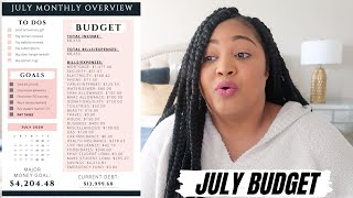 OUR SUPER SIMPLE & THOROUGH BUDGETING METHOD | July 2020 Monthly Budget | New Canva Budget Template