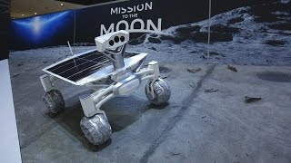 Audi's amazing robotic moon rover at the Detroit Auto Show