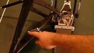 make a longboard double bass pedal