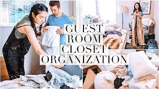 GUEST CLOSET ORGANIZATION! Declutter & clean with us!