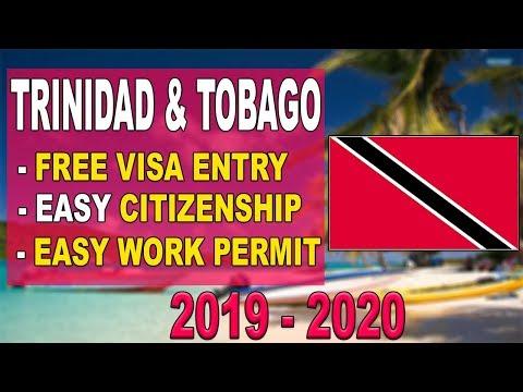 Trinidad & Tobago Visa Free Entry | Get Work Permit - Citizenship 2019 - 2020