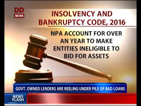 New code to streamline process of bankruptcy and insolvency