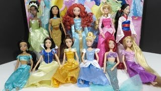 Disney Princess Deluxe Gift Set Rapunzel, Ariel, Tiana, Aurora, Mulan, Cinderella, Jasmine