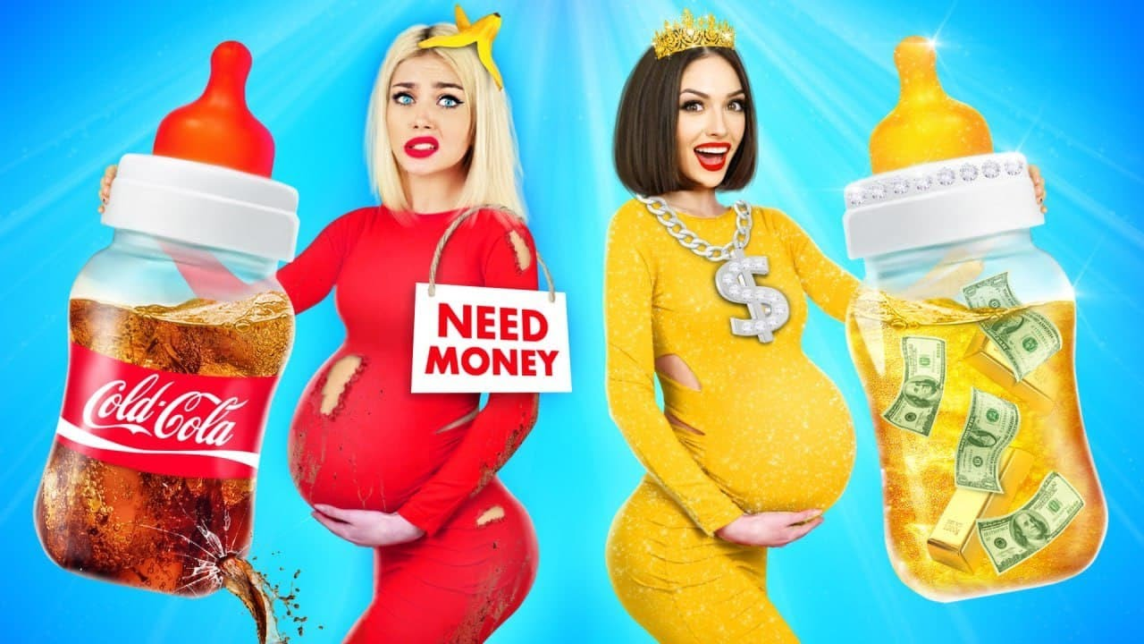 GOOD Pregnant VS BAD Pregnant! Rich VS Broke Pregnancy Situations and Types of Girls by RATATA BOOM