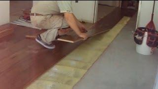 Walnut Hardwood Flooring Installation: Transitioning Between Two Rooms