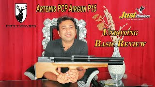 Artemis PCP Airgun P15 Unboxing and Basic Review by Mian Qamar from Just Hunters in Urdu