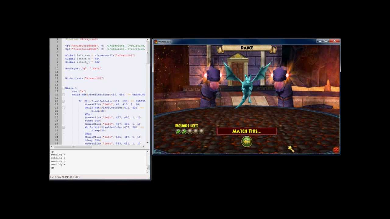 Wizard101 Pet Game Dance Bot (Automated Script)