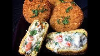 Chicken Bread Wheel Patties (iftar Recipe)