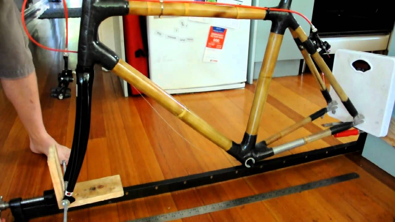 Bamboo Bike Frame Deflection Strength Test #2 - Daisy - YouTube