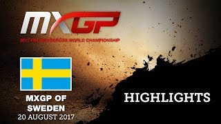 Qualifying Highlights - MXGP of Sweden 2017 #motocross