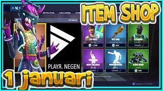 | FORTNITE UK | ITEM SHOP 1 January 2019 | * New * DJ BOP SKIN-Playr NINE – FORTNITE ENGLISH