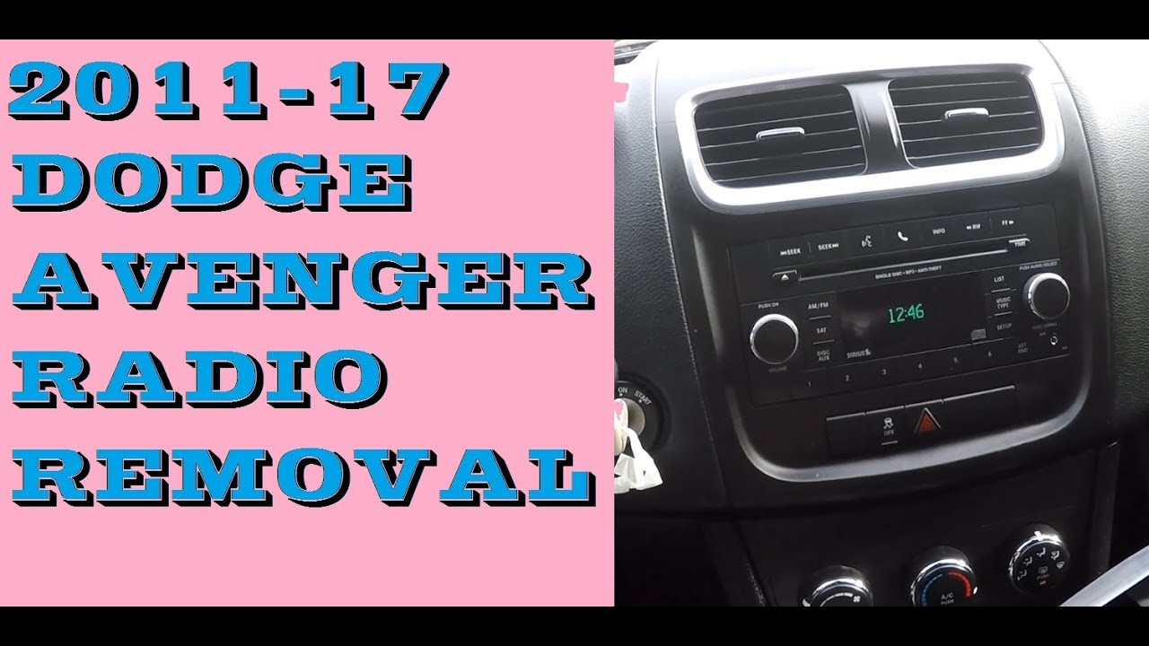 2013 dodge avenger wiring diagram how to replace radio in dodge avenger 2011 2017 youtube  replace radio in dodge avenger 2011