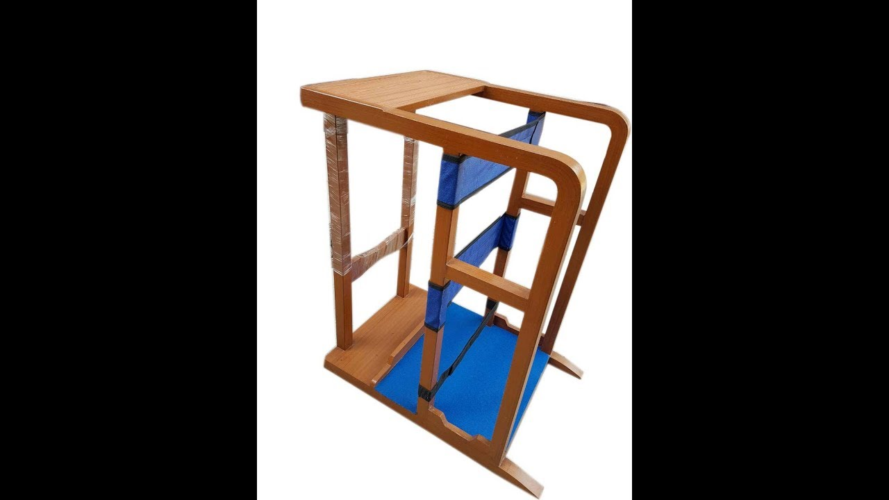 Standing Frame In Wooden Used Physiotherapy Hcd355