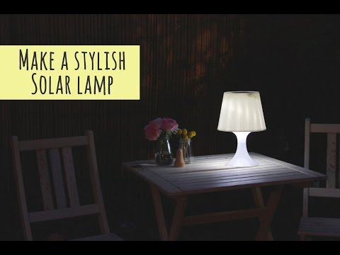 Make a solar lamp for your garden