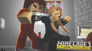 Minecraft - Prison Break : SCUBA STEVE HOLDS LITTLE KELLY HOSTAGE!