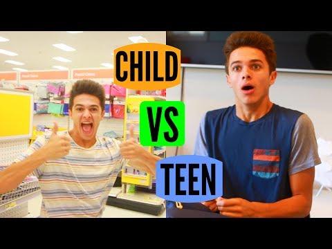 CHILD VS TEEN: Back to School! | Brent Rivera