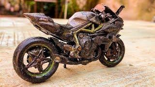 Restoration Kawasaki Ninja Toy | Restore Old Kawasaki Motorcycle model