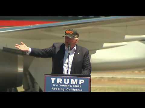 "Donald Trump FULL Speech In Redding California. ""Look At My African American Over Here"""