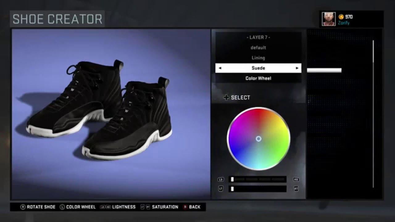 f49a94a1f68c68 NBA 2K16 Shoe Creator - Air Jordan 12 x PSNY
