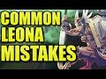 THE MOST COMMON LEONA MISTAKES!  || Leona Coaching Season 9