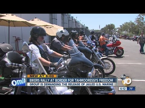 Bikers rally at border for jailed Marine's freedom