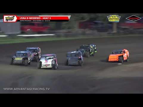 Ironman B-Modified Heats - Rapid Speedway - 8/23/19