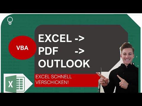 Excel VBA I Excel als PDF und automatisch als Mail verschicken I