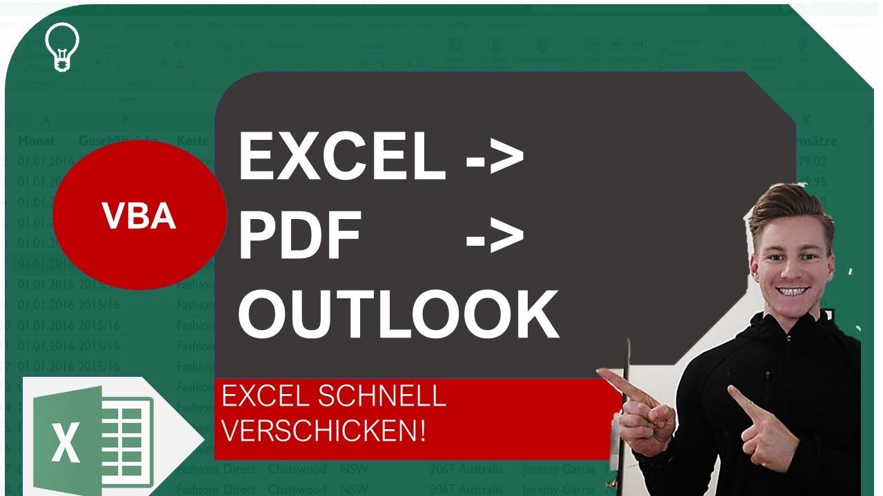 Excel VBA I Excel als PDF und automatisch als Mail verschicken I Excelpedia