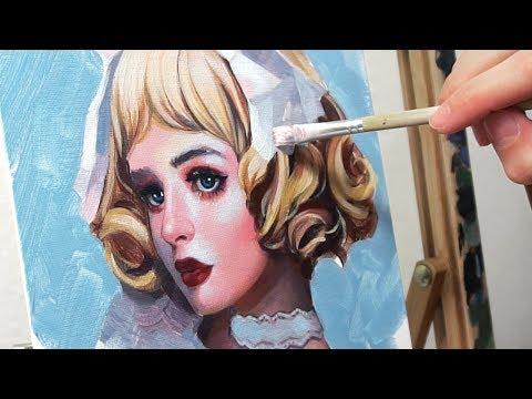 ACRYLIC PAINTING TUTORIAL + Arteza Acrylic Paints Review!