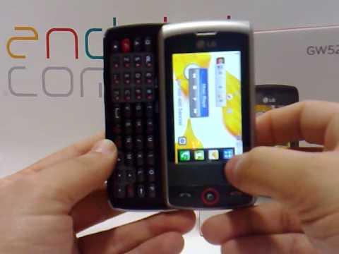 LG GW520. Demostracion a cargo de Andotel.com del LG GW520