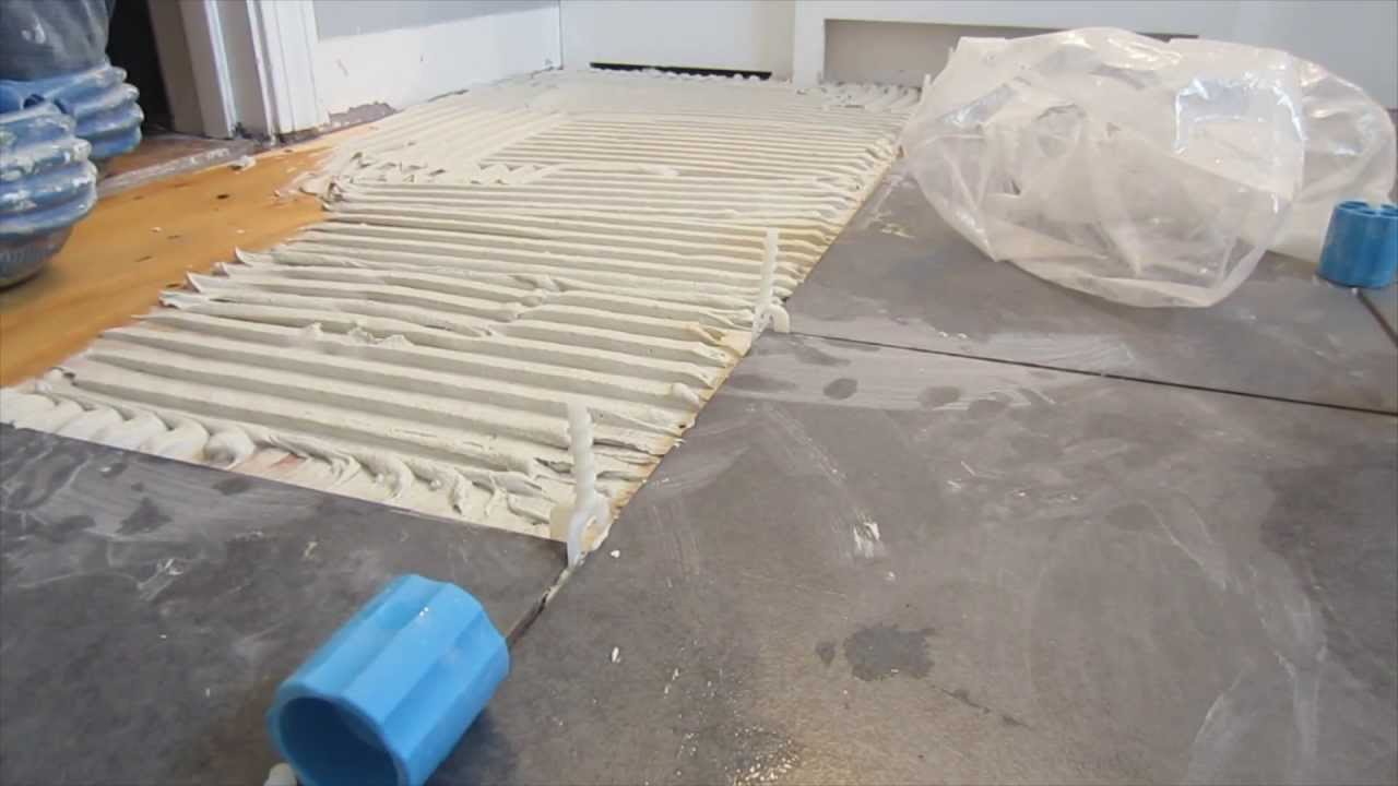 how to use proleveling system to install large format floor tile