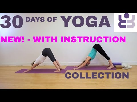 NEW! WITH INSTRUCTION - 30 Days of Yoga Collection. Iyengar Yoga for Beginners.
