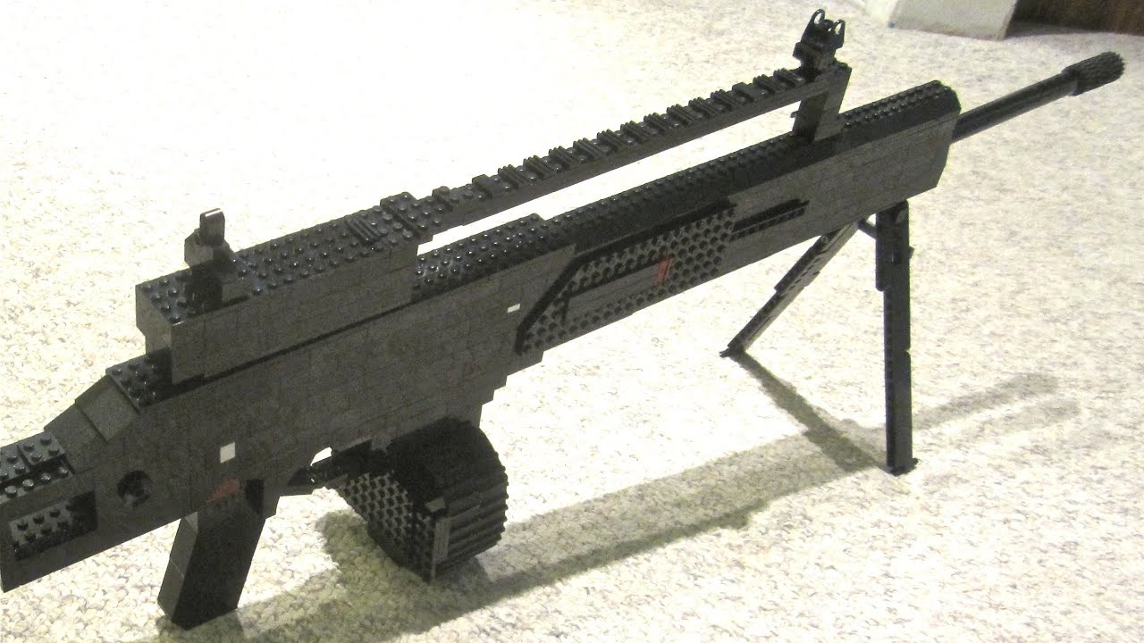 LEGO MG36 - Modern Warfare 3 - Life Size - YouTube