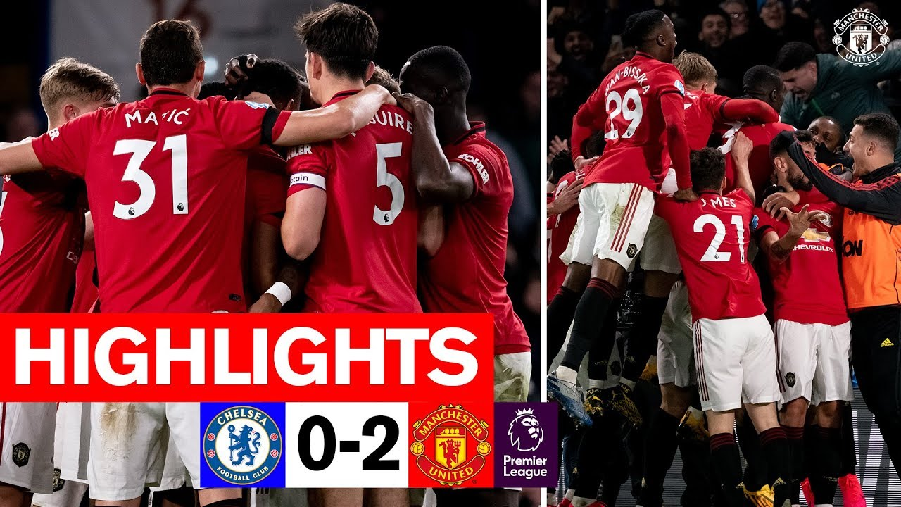 Download Highlights | Chelsea 0-2 Manchester United | Premier League 2019/20