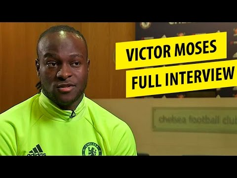 Victor Moses Chelsea talks about playing wing back, playing under Antonio Conte Extended Interview