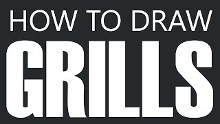 How To Draw A Grill - Barbecue Grill Drawing