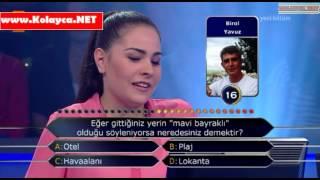Kim milyoner olmak ister 14 haziran 2014 354. bölüm Senem Gül Temiz