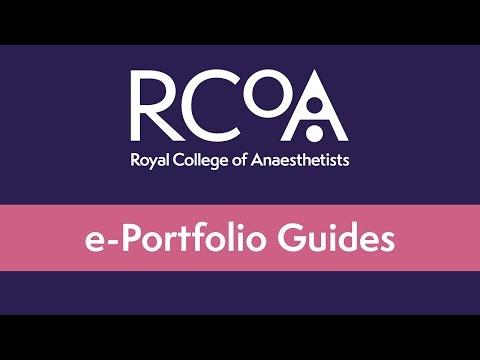 RCoA E-Portfolio Guide: Updating Your CV